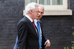 London, September 5th 2017. Secretary of State for Exiting the European Union David Davis and Lord Chancellor and Secretary of State for Justice David Lidington leave the first UK cabinet meeting at Downing Street after the summer recess. ©Paul Davey
