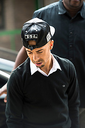(c) Licensed to London News Pictures. 19/06/2014 Essex, UK. Costadinos Contosstavlos aka Dappy, arrives at Chelmsford Magistrates Court for the second day of his trial. Dappy is charged with an assault which is alleged to have occurred on 27th February this year. . Photo credit Simon Ford/LNP
