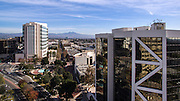 Civic Center Plaza Tower and Ronald Reagan Federal Building in Downtown Santa Ana