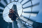 Windmills at Bauman Ranch in Carpeneter, Wyoming.