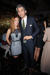 JOSEPHINE DE LA BAUME and GEORGE LAMB at a party to celebrate the launch of Lulu & Co held at the Fifth Floor Cafe, Harvey Nichols, Knightsbridge, London on 21st October 2010.