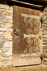 Closed door of an old house, Heiligenblut, Carinthia, Austria