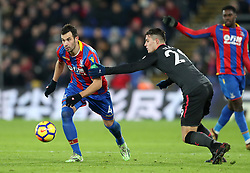 Crystal Palace's Luka Milivojevic (left) and Arsenal's Granit Xhaka in action during the Premier League match at Selhurst Park, London, Thursday 28th December 2017