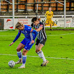 Conor McDonagh on the ball for Swindon Supermarine with Bath City Grant Horton