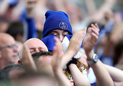 Sheffield Wednesday fan wipes away tears after seeing her team lose in The Sky Bet Championship Playoff Final to Hull City - Mandatory by-line: Robbie Stephenson/JMP - 28/05/2016 - FOOTBALL - Wembley Stadium - London, England - Hull City v Sheffield Wednesday - Sky Bet Championship Play-off Final