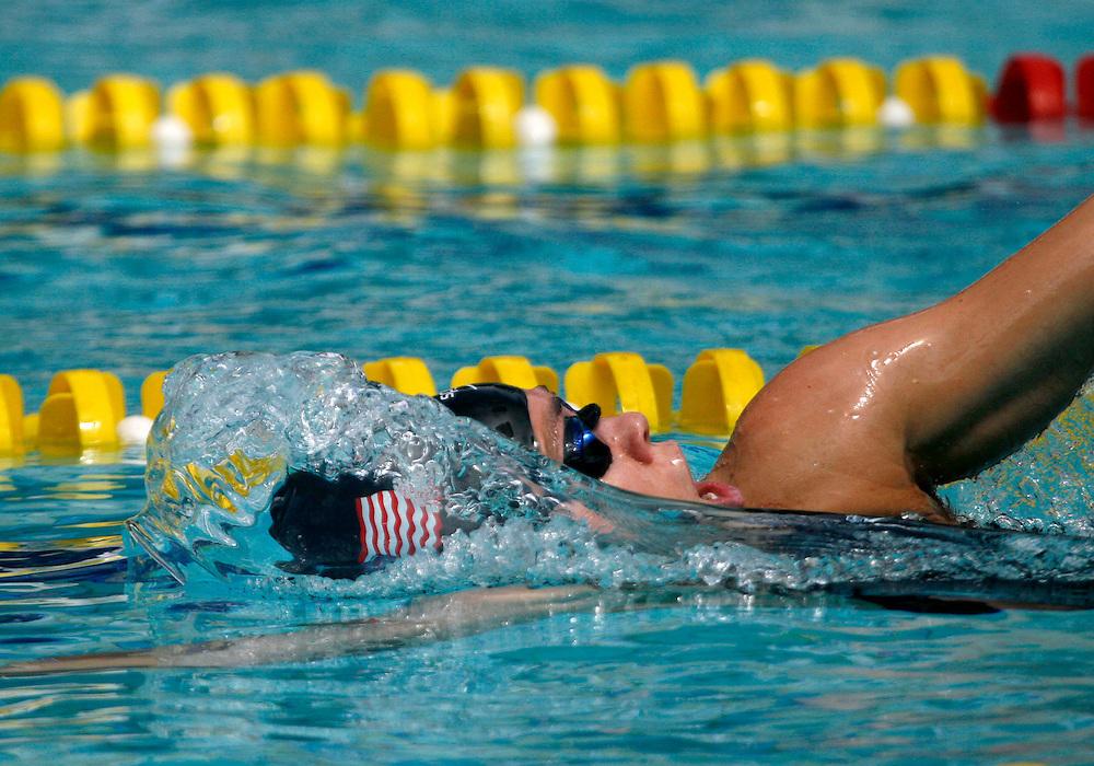 Belo Horizonte_MG, Brasil...Copa do Mundo de Natacao 2007. Na foto a nadadora Natalie Coughlin, dos EUA, vencedora da prova 100m Medley, em Belo Horizonte...Swimming World Cup 2007. In this photo the swimmer Natalie Coughlin, of USA, She is the champion in the 100m Medley, in Belo Horizonte...Foto: LEO DRUMOND / NITRO .....FOTO: LEO DRUMOND / AGENCIA NITRO / EFE