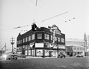 Y-560102B.  Harold Kelley's Appliances. New store. 4160 NE Sandy. Later it was Mark Lindsay's Café, which closed in May 2008. January 2, 1956