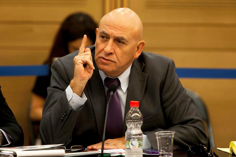 Israeli Arab lawmaker, parliament member Basel Ghattas at the Knesset, Israel's parliament in Jerusalem, on November 13, 2013.