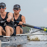 James Hunter and Tom Murray New Zealand Mens Coxless Pair<br /> <br /> Qualification heats at the World Championships, Sarasota, Florida, USA Sunday 24 September 2017. Copyright photo © Steve McArthur / www.photosport.nz