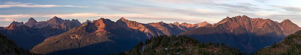 Peaks of the North Cascades from Artist Point in the North Cascade Mountains in Washington State, USA