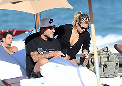 December 5, 2017: Christian Viera relaxes with bikini-clad girlfriend on the beach in Miami. 05 Dec 2017 Pictured: Christian Vieri. Photo credit: MEGA TheMegaAgency.com +1 888 505 6342