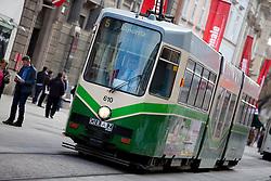 13.03.2012, Graz, AUT, Feature, im Bild eine Strassenbahn der GVB Linie 5 Richtung Andritz, EXPA Pictures © 2012, PhotoCredit: EXPA/ Erwin Scheriau