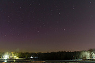 The aurora is faintly visible above the horizon in a view from Fancher-Davidge Park on March 17, 2015.