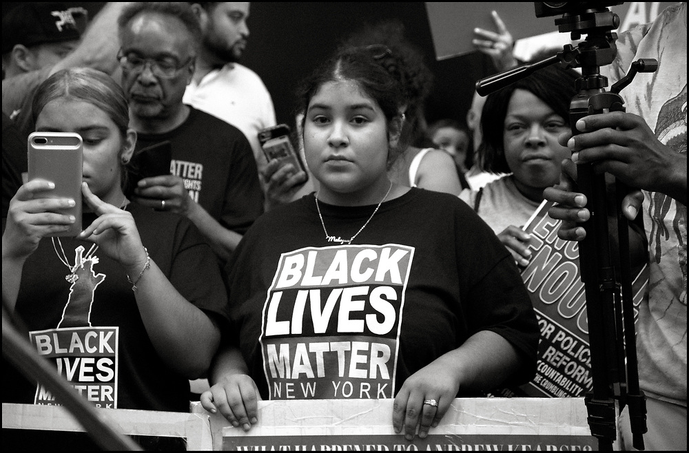 On August 12th, 2019, Black Lives Matter New York marched from the Adam Clayton Powell Jr. State building to Trump Tower, remembering Eric Garner and protesting Officer Panteleo's continued employment with NYPD and Mayor De Balsio's failure to hold him to account for Eric Garner's death.