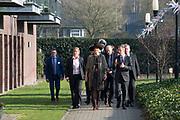 Koningin Maxima bezoekt de zorginstelling Avoord Zorg en Wonen in Etten-Leur. Zij deed dit in het kader van de Nationale Week van Zorg en Welzijn. /////  Queen Maxima visits the health care Avoord Care and Living in Etten-Leur. They did this in the context of the National Week of Health and Welfare.<br /> <br /> Op de foto/ On the photo:  Koning Maxima loopt over het terrein van de zorginstelling / King Maxima walks through the grounds of the healthcare facility