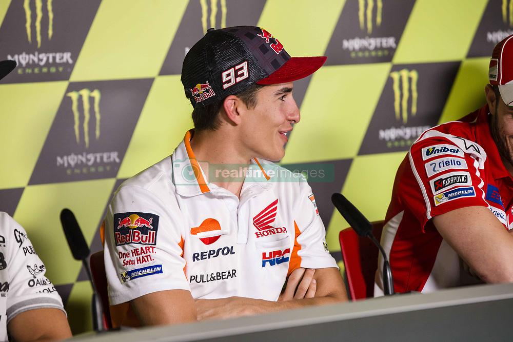 June 8, 2017 - Barcelona, Spain - MotoGP, Marc Marquez(Spa), Repsol Honda Team during the press conference of MotoGp Grand Prix Monster Energy of Catalunya, in Barcelona-Catalunya Circuit, Barcelona on 8th June 2017 in Barcelona, Spain. (Credit Image: © Urbanandsport/NurPhoto via ZUMA Press)