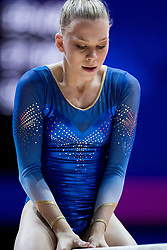 August 2, 2018 - Glasgow, UNITED KINGDOM - 180802 Jessica Castles of Sweden competes at the beam in the women's qualification of Artistic Gymnastics during the European Championships on August 2, 2018 in Glasgow..Photo: Jon Olav Nesvold / BILDBYRÃ…N / kod JE / 160280 (Credit Image: © Jon Olav Nesvold/Bildbyran via ZUMA Press)