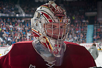REGINA, SK - MAY 19: Evan Fitzpatrick #31 of Acadie-Bathurst Titan stands at the bench during at time out against the Swift Current Broncos at the Brandt Centre on May 19, 2018 in Regina, Canada. (Photo by Marissa Baecker/CHL Images)