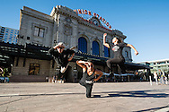 Red Bull Flying Bach dancers perform at Union Station in Denver, CO, USA, on 21 October, 2016.