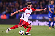 Grzegorz Krychowiak of West Bromwich Albion in action .Premier league match, Leicester City v West Bromwich Albion at the King Power Stadium in Leicester, Leicestershire on Monday 16th October 2017.<br /> pic by Bradley Collyer, Andrew Orchard sports photography.