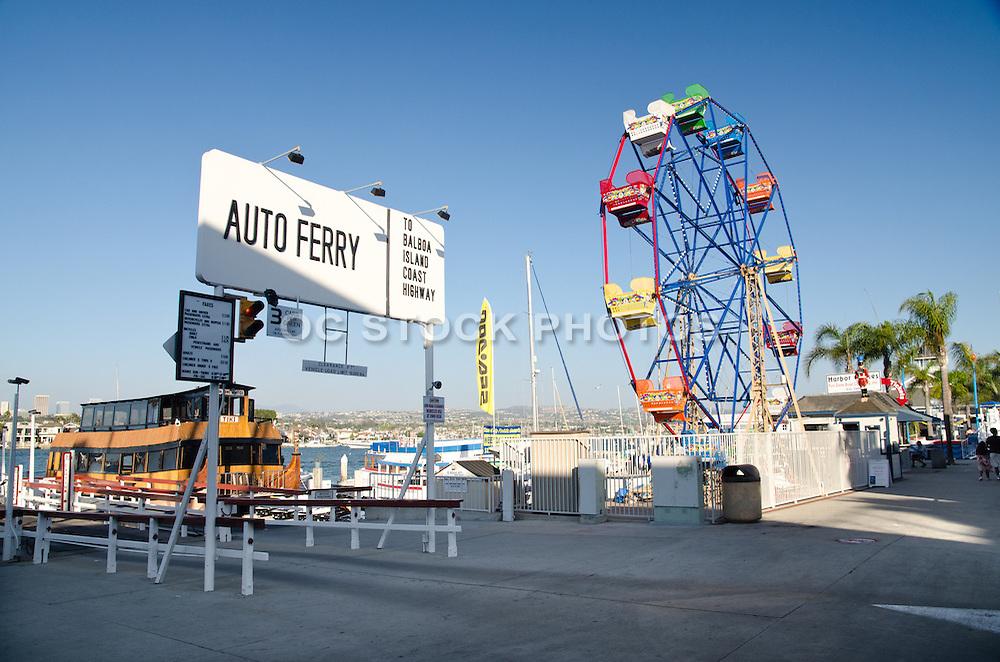 Auto Ferry Boat Launch Newport Beach California