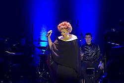 August 7, 2017 - Alcione trás nesta segunda(07/08) ao Theatro Net Rio o seu mais novo projeto ''Alcione Boleros'', amplamente compatível com seu histórico de hits românticos, letras e canções emocionais ''à flor da pele'', o projeto era um dos sonhos ainda não concretizados pela intérprete. ''- Gosto de cantar aquilo que me emociona, e sempre me emocionava ao ouvir os sucessos de Ã'ngela Maria, Núbia Lafayette, Elizeth Cardoso, e de tantas e tantas divas do gênero. (Credit Image: © Rodrigo Chad/Fotoarena via ZUMA Press)