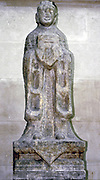 Stone guardian sculpture from North-eastern China, circa 17th Century, late Ming or Qing Dynasty. The figure was one of a pair. Such statues lined the approach roads to tombs.