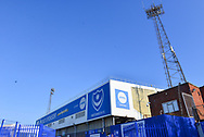 Fratton Park floodlights during the EFL Sky Bet League 1 match between Portsmouth and Blackpool at Fratton Park, Portsmouth, England on 24 February 2018. Picture by Adam Rivers.