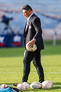 Assistant coach Filo Tiatia during the Mitre 10 Cup match played at Rotorua International Stadium in Rotorua on Friday 2nd October 2020.<br /> Copyright photo: Alan Gibson / www.photosport.nz