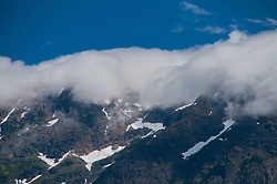 Serrated North Cascade Peaks in the Clouds, Ross Lake National Recreation Area, North Cascades National Park, US