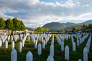 Some of the more than 6000 graves at the Srebrenica-Potočari Genocide Memorial and Cemetery, where the remains of Bosnian Muslims killed by Bosnian Serbs have been laid to rest.