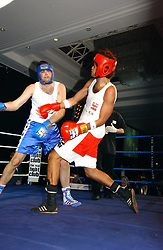 STEVE WOOD (red shorts) and HARRY SIMPSON (blue shorts) at the Boodles Boxing Ball in aid of the sports charity Sparks  organised by Jez lawson, James Amos and Charlie Gilkes held at The Royal Lancaster Hotel, Lancaster Terrae London W2 on 3rd June 2006.<br /> <br /> NON EXCLUSIVE - WORLD RIGHTS
