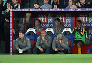 Arsenal's Arsene Wenger looks on dejected during the Premier League match at Selhurst Park Stadium, London. Picture date: April 10th, 2017. Pic credit should read: David Klein/Sportimage