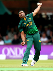 Samit Patel of Nottinghamshire bowls in the Royal London One-Day Cup Final - Mandatory by-line: Robbie Stephenson/JMP - 01/07/2017 - CRICKET - Lord's Cricket Ground - London, United Kingdom - Nottinghamshire v Surrey - Royal London One-Day Cup Final 2017