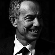 Former British Prime Minister Tony Blair at the St Regis Hotel in Washington DC.
