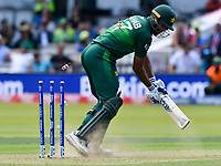 Cricket - 2019 ICC Cricket World Cup - Group Stage: Pakistan vs. Bangladesh<br /> <br /> Wahab Riaz b.  Mohammad Saifuddin<br /> at Lord's<br /> <br />  colorsport/winston bynorth