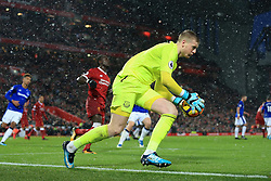 10th December 2017 - Premier League - Liverpool v Everton - Everton goalkeeper Jordan Pickford - Photo: Simon Stacpoole / Offside.