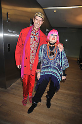 ANDREW LOGAN and ZANDRA RHODES at the Montblanc de la Culture Arts Patronage Award 2009 held at the Tate Modern, Bankside, London SE1 on 16th April 2009.