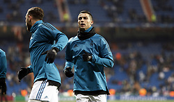December 6, 2017 - Madrid, Spain - The player Cristiano Ronaldo during the warm-up of the team before the game match between Real Madrid and Borussia Dortmund at Santiago Bernabéu. (Credit Image: © Manu_reino/SOPA via ZUMA Wire)