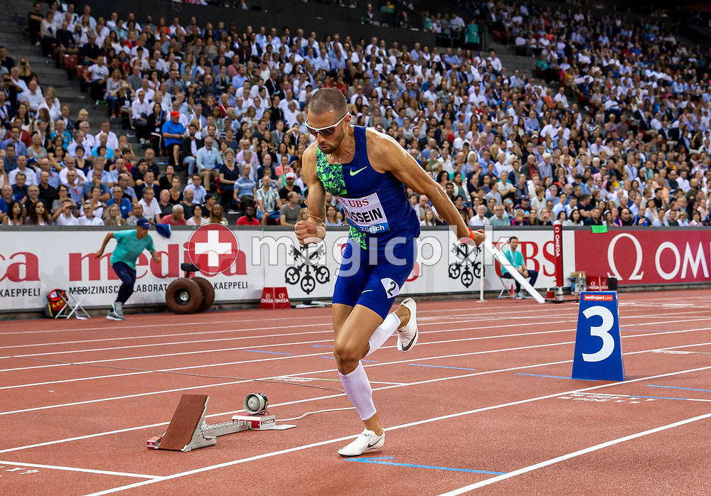 Kariem HUSSEIN of Switzerland competes in the Men's 400m Hurdles during the Iaaf Diamond League meeting (Weltklasse Zuerich) at the Letzigrund Stadium in Zurich, Switzerland, Thursday, Aug. 29, 2019. (Photo by Patrick B. Kraemer / MAGICPBK)