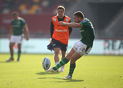 London Irish's Paddy Jackson converts a penalty kick during the Gallagher Premiership match at the Brentford Community Stadium, London. Picture date: Saturday October 9, 2021.