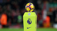 Match ball before the Premier League match at Anfield Stadium, Liverpool. Picture date: December 11th, 2016.Photo credit should read: Lynne Cameron/Sportimage