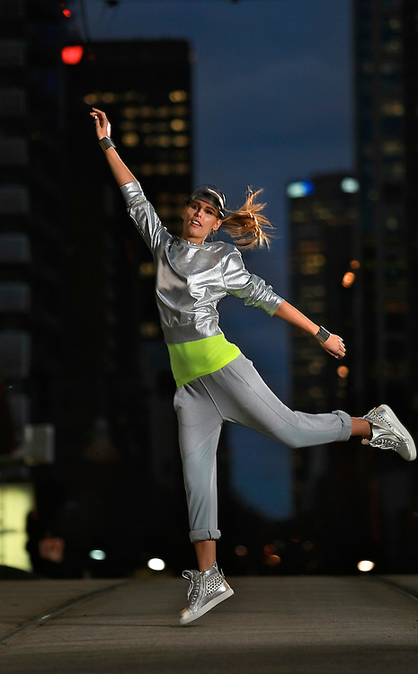 Viviens Model - ISKRA. Fashion Story about the growth in super-expensive sports gear, plus the influence it's having on street fashion in the run-up to Olympics. Pic By Craig Sillitoe CSZ / The Sunday Age.29/06/2012 melbourne photographers, commercial photographers, industrial photographers, corporate photographer, architectural photographers, This photograph can be used for non commercial uses with attribution. Credit: Craig Sillitoe Photography / http://www.csillitoe.com<br /> <br /> It is protected under the Creative Commons Attribution-NonCommercial-ShareAlike 4.0 International License. To view a copy of this license, visit http://creativecommons.org/licenses/by-nc-sa/4.0/.