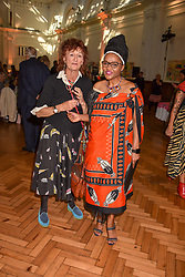 Lady Jane Ormsby Gore and Patricia Dlamini at the ASAP VIP lunch (African Solutions To African Problems) held at the RHS Lindley Hall, 80 Vincent Square, London, England. 10 October 2018.