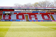 Ground shot of another empty stand during the EFL Sky Bet League 2 match between Stevenage and Bradford City at the Lamex Stadium, Stevenage, England on 5 April 2021.