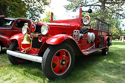 06 August 2016:  1931 Ford AA Fire Truck<br /> owner: Dave Williams<br /> <br /> Displayed at the McLean County Antique Automobile Association Car show at David Davis Mansion in Bloomington Illinois