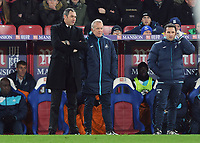 Football - 2016 / 2017 Premier League - Crystal Palace vs. Swansea City<br /> <br /> New Swansea Manager Paul Clement comes down from the stands to join Caretaker Manager Alan Curtis on the side line  at Selhurst Park.<br /> <br /> COLORSPORT/ANDREW COWIE