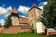 The Saxon Fortified Church of Brateiu, Transylvania .<br /> <br /> Visit our ROMANIA HISTORIC PLACXES PHOTO COLLECTIONS for more photos to download or buy as wall art prints https://funkystock.photoshelter.com/gallery-collection/Pictures-Images-of-Romania-Photos-of-Romanian-Historic-Landmark-Sites/C00001TITiQwAdS8<br /> .<br /> Visit our MEDIEVAL PHOTO COLLECTIONS for more   photos  to download or buy as prints https://funkystock.photoshelter.com/gallery-collection/Medieval-Middle-Ages-Historic-Places-Arcaeological-Sites-Pictures-Images-of/C0000B5ZA54_WD0s