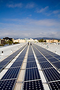 82 Kilowatt Solar Array on roof of Big Blue Bus Terminal, Installation by Martifer Solar USA, Santa Monica, California, USA
