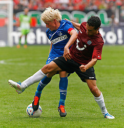 06.08.2011,AWD-Arena, Hannover, GER, 1.FBL, Hannover 96 vs TSG 1899 Hoffenheim, im Bild Andreas Beck (Hoffenheim #2) und Manuel Schmiedebach (Hannover #33).// during the match from GER, 2.FBL,  Hannover 96 vs TSG 1899 Hoffenheim on 2011/08/06, AWD-Arena, Hannover, Germany..EXPA Pictures © 2011, PhotoCredit: EXPA/ nph/  Schrader       ****** out of GER / CRO  / BEL ******